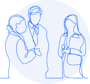 Clara Formations Illustration of colleagues discussing